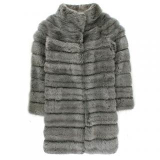 Bespoke Silver Mink Fur Coat