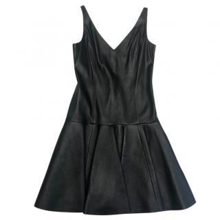 Ralph Lauren Leather A-line dress