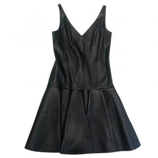 Ralph Lauren Leather A-line dress