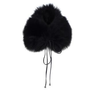 Dolce & Gabbana Black Fox Fur Collar