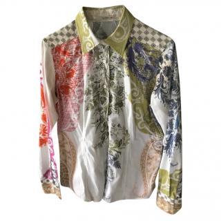 Etro multi-print shirt