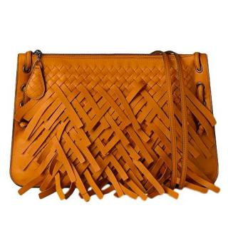 Bottega Veneta Palio Fringed-Leather Messenger Bag