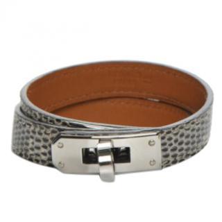 Hermes Triple Tour Kelly lizard skin bracelet