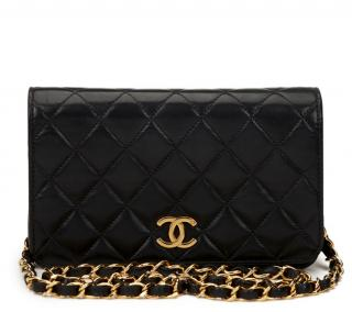 Chanel Black Quilted-Leather Vintage Bag