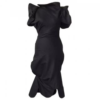 Vivienne Westwood Red Label Jagged Hem Black Fitted Mid Length Dress