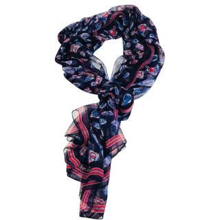 Chanel Silk-Chiffon Scarf