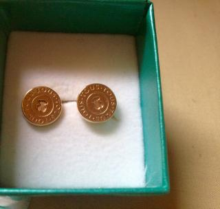 Tous yellow-gold disc earrings