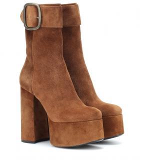 Saint Laurent Billy suede platform ankle boots
