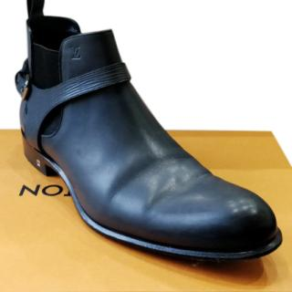 Louis Vuitton Grey Leather Chelsea Boots