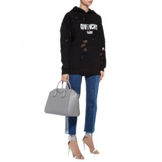 Givenchy Paris Destroyed Hooded Sweatshirt