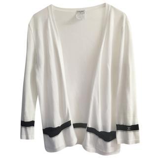 Chanel contrast-trim V-neck cardigan
