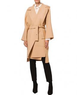 Chloe Double-Faced Wool-Blend Camel Coat