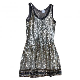 RedValentino Gold Sequin-Embellished Dress