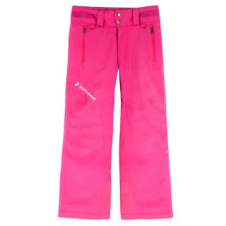 Peak Performance Girl's Pink Salopettes