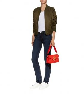 Paige Mid-Rise Blue Skinny Jeans