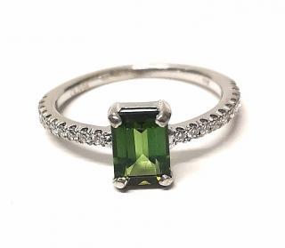 Olivia Tourmaline & Diamond 18ct Gold Ring