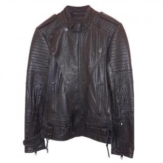 Diesel Black Leather Jacket
