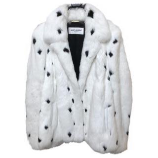Saint Laurent Rabbit Fur Jacket