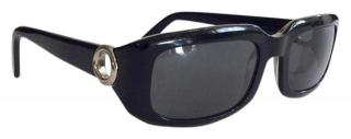 Cartier Vintage Black 135 Oval-Frame Sunglasses