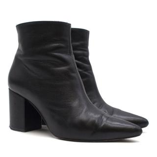 Anine Bing Black Leather Ankle Boots