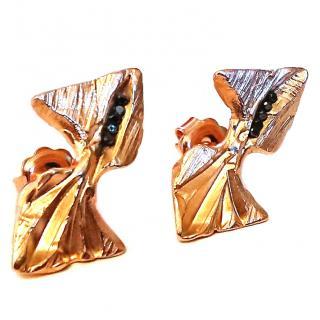 Imogen Belfield London Black Diamond Jurassic Earrings