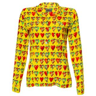 Gianni Versace by Jim Dine heart-print vintage shirt