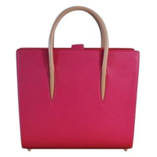 Christian Louboutin hot-pink paloma leather bag