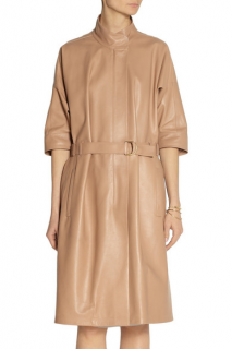 Calvin Klein Collection Sand Leather Trench Coat