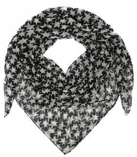 Saint Laurent Wool Star Print Scarf