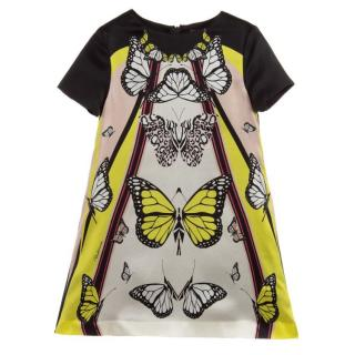 Roberto Cavalli silk butterfly print shift dress age 12 years