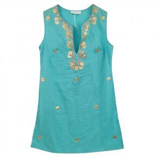Elizabeth Hurley embroidered sleeveless top