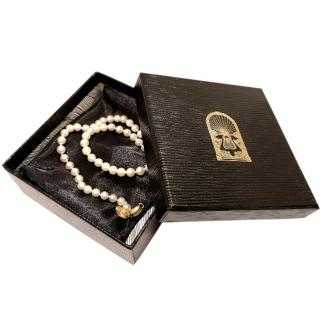 Mappin & Webb Cultured Pearl 18ct Gold Choker Necklace