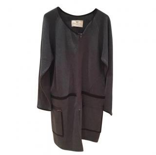 Day Birger Et Mikkelson ~ Charcoal -grey Merino Wool Jacket / Coatigan w/ black edge detail
