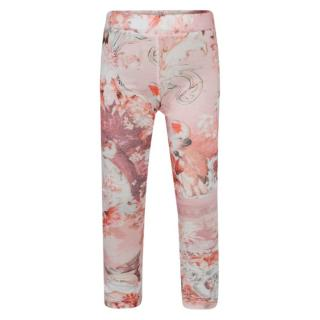 Roberto Cavalli gril's pink abstract-print leggings