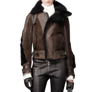 Belstaff Lerryn shearling & fox fur aviator jacket