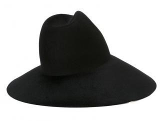 Gucci asymmetric black wide-brim fur-felt hat