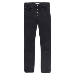 Anine Bing Straight-Fit Grey Jeans