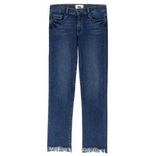 Paige Jacqueline straight-leg distressed denim jeans