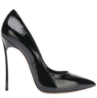 Casadei Pellame black patent leather pumps