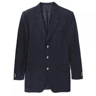 Dior deep-navy wool-blend blazer