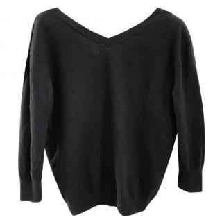 Isabel Marant black knit jumper lower at back