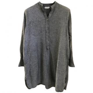Isabel Marant stand-collar grey shirt dress
