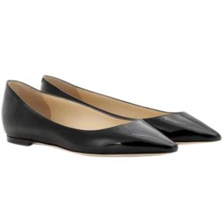 Jimmy Choo Romy patent leather flat shoes