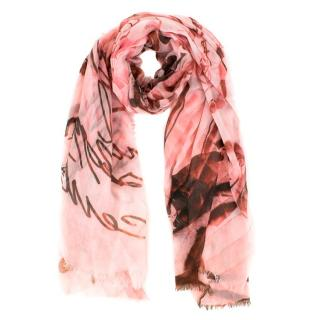 Chanel Pink Cashmere Scarf