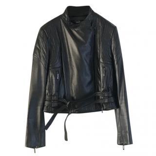 Amanda Wakely leather biker jacket