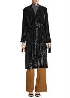 A.L.C.  Black Sequin-Embellished Jacket