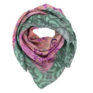 John Galliano printed silk scarf
