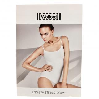 Wolford White Odessa Velvet Touch String Body