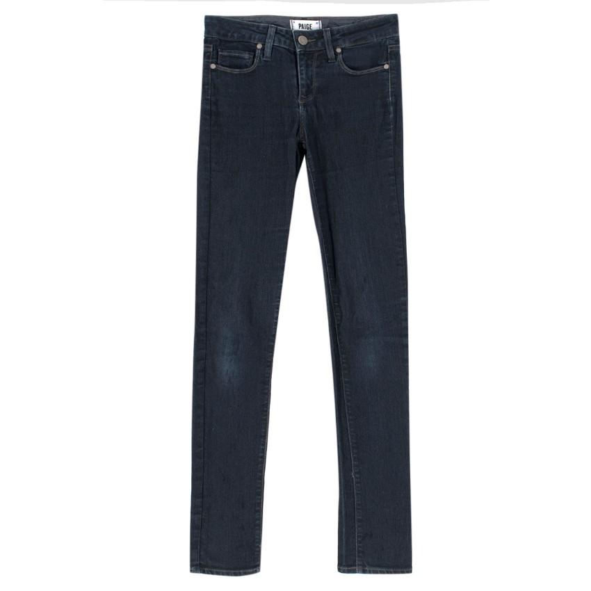 Paige Skyline dark-blue skinny denim jeans