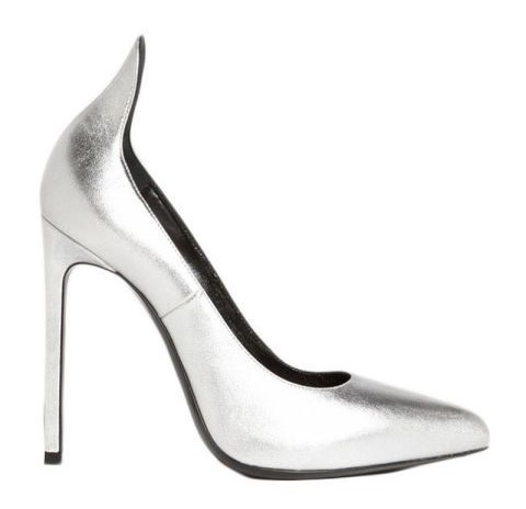 Saint Laurent Paris Escarpin 'Thorn' Pump In Silver